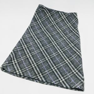 Burberry 100% Wool A-Line Skirt